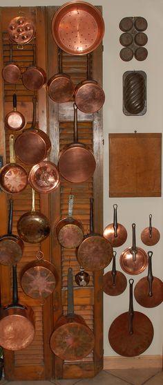 Copper pots & pans, love