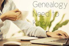 10 #Genealogy Things You Need to Know Today, Tuesday, 10 Jun 2014, via 4YourFamilyStory.com. #needtoknow #familytree