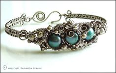 Pearl Barnacle Cuff - Turquoise by Samantha_Braund, via Flickr
