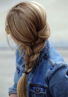 french braids, hair colors, blondes, long hair, plait, denim, braid hairstyles, girl hairstyles, beauti