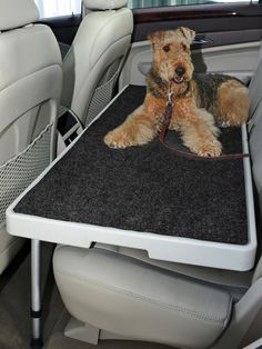 PetDek turns your back seat into a level, stable cargo area for pets, groceries, golf clubs and more. Totally portable—sets up in 60 seconds.