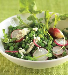 Pea Salad with Radishes and Feta Cheese - Bon Appétit