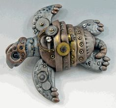 polymer clay turtle!