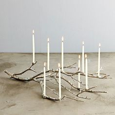 nice idea... twig and candles