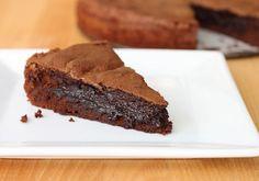 {molten dark chocolate brownie cake} I just died & went to brownie heaven.
