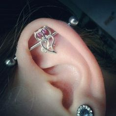 So cute!!! a little owl industrial piercing