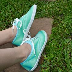 This technique for these awesomely dyed sneakers was born from a craft fail! See how to make your own awesome kicks!