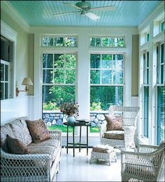 Willow Bee Inspired: Be Inspired No. 2 - Haint Blue Porch Ceiling