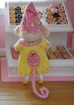 Sweet Petite Cherish a Needle Felted Mouse. $45.00, via Etsy.