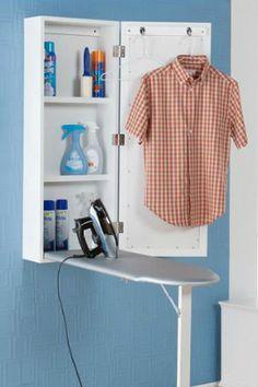 Wall mount ironing board - good space saving idea
