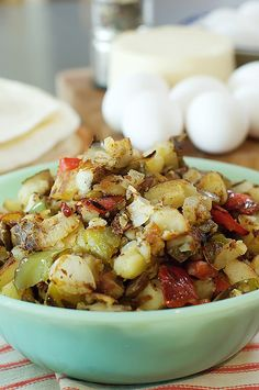 Breakfast potatoes and breakfast burrito recipe
