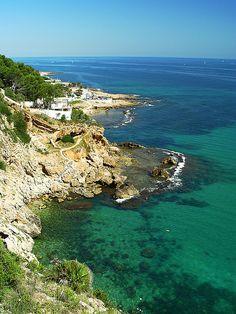 Mar en la costa de Dénia, Alicante, Spain