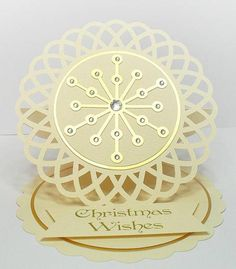 Doily Easel Card - Christmas Wishes by BirdsCards - Cards and Paper Crafts at Splitcoaststampers
