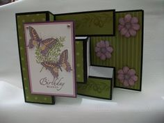 handmade greeting card from Stamping Moments: Touch of Nature ... fancy fold card ... delightful!! ... Stampin' Up!