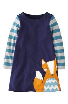 Mini Boden 'Fun' Appliqué Dress (Toddler Girls, Little Girls  Big Girls) available at #Nordstrom