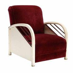 Norman Bel Geddes streamline metal club chair, c. 1935