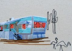 Embroidered Dwellings by Stephanie K Clark