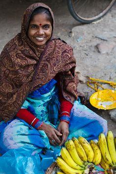 A very pleasant banana vendor New Delhi, India