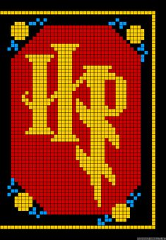 Harry Potter perler bead pattern