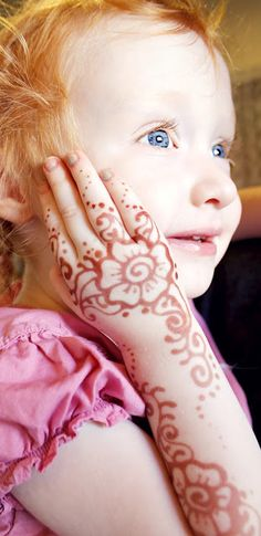 Safe, all natural henna.  Making little girls feel pretty for thousands of years.....