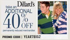 Dillards coupons military discount