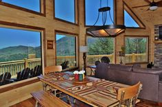 Endless View Lodge - North Georgia Mountains Cabin Rental - Incredible Long Range Mountain & Lake Blue Ridge View- only 10 minutes from Downtown!