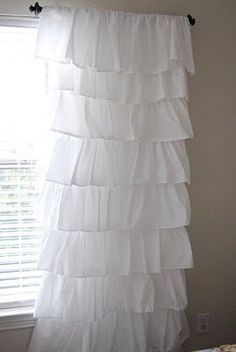 DIY ruffle curtain directions for your college dorm room