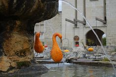 Part squash/ part bird - as pictured at Chateau du Rivau in France. Find out more at www.into-gardens.com