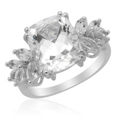 Liquidation Channel: Golconda Diamond Topaz Ring in Platinum Overlay Sterling Silver (Nickel Free)