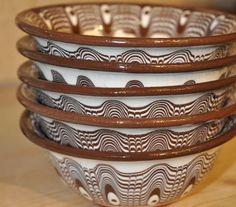 Bulgarian terra cotta bowls
