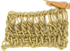Tunisian Double Crochet