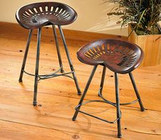 tractor seat bar stools | Rustic Tractor Seat Bar Stools Tractor Seat Bar Stools Classics and ...