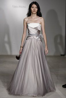 Wedding dresses on pinterest second weddings colored for Vera wang gray wedding dress