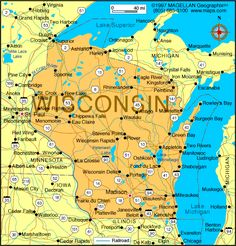 |::| Map of Wisconsin |::|