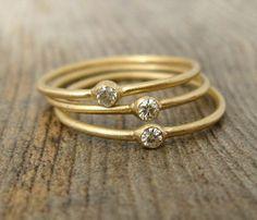 Gold Moissanite Ring by Porter Gulch