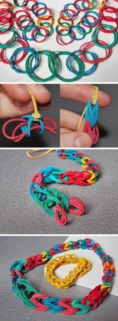 DIY Rubber Band Necklace