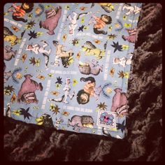 Where the wild things are baby blanket with your by RockerByeBaby, $38.00