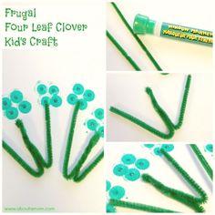 Frugal Four Leaf Clover Craft for Kids
