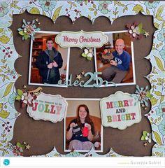 christmas scrapbook layouts, christma layout, christma silhouett, christma scrapbook, merri christma