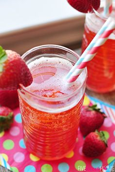 Homemade Strawberry Syrup for Strawberry Soda (and other goodies)