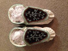 Raised beadwork haudenosaunee moccasins :)