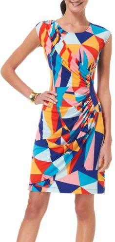 Tiana B Women's Printed Triangle Dress - List price: $60.00 Price: $36.00 Saving: $24.00 (40%)