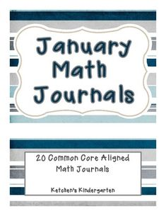 January Themed Math Journals--Common Core Aligned