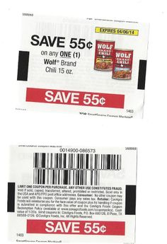 Wolf chili coupons