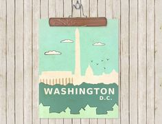 $20 Art City Skyline Poster - Washington D.C.