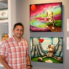 Fabio Napoleoni- yes that is him with his fabulous art!