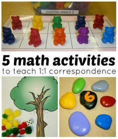 Exploring 1 to 1 Correspondence with Children, Math Explorations