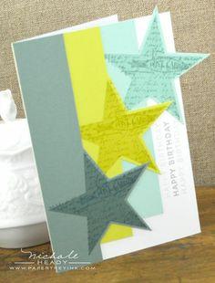 Tri-star birthday card
