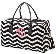 person bridesmaid, weekend bags, monogram weekend, bridesmaid gifts, black white