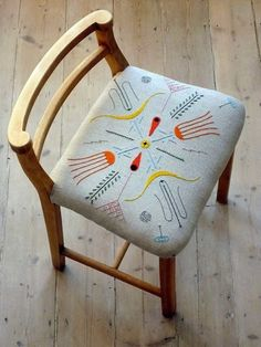Embroidered chair.